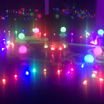 Pictures of lights in the atrium