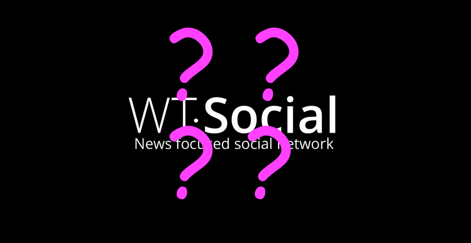 WT:Social logo with pin question marks on top of it