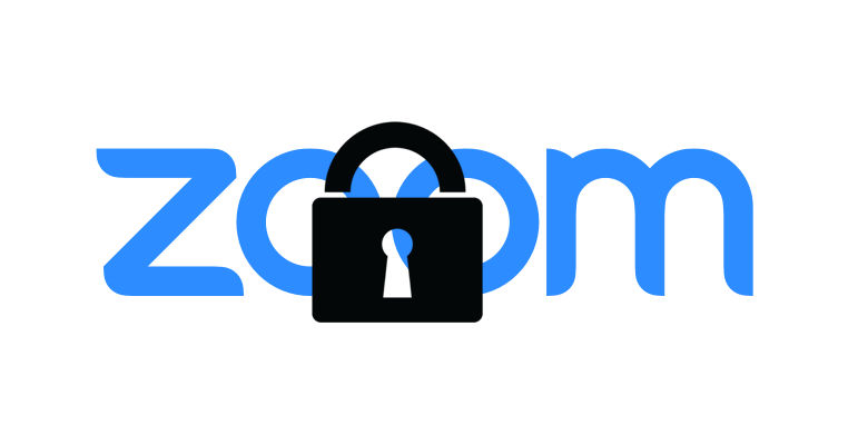 The Zoom logo, with a black padlock