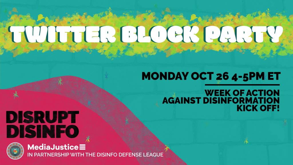 Twitter Block Party: Monday October 26 4-5 PM ET