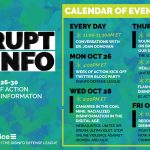 Disrupt Disinfo: October 20-26 Week of Action against Disinformation. MediaJustice in partnership with Digital Defense League